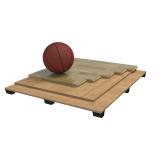 Спортивный паркет для баскетбола SOLID, сертифицирован FIBA