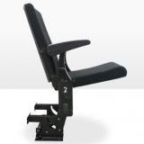 Кресло с синхронным складыванием сиденья и подлокотников