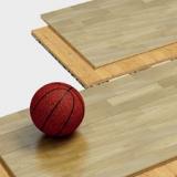 Пол спортивный паркетный сборно-разборный серии 1009 - сертификат FIBA