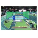 Сектор толкания ядра для проведения соревнований. Сертификат IAAF.