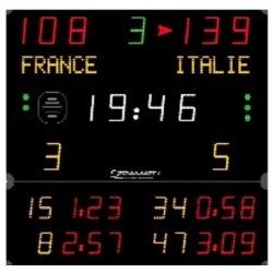 Универсальное табло для игровых видов спорта, модель 452 MS 3103