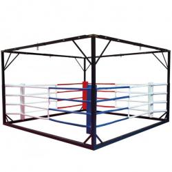 Ринг боксерский с рамой для подвеса мешков