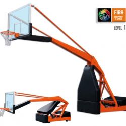 Стойка баскетбольная передвижная модели Hydroplay FIBA 2.0. Сертификат FIBA.