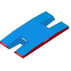 Место приземления для прыжков с шестом, модель Meeting double-front comfort plus single cover