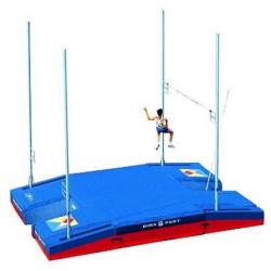 Место приземления для прыжков с шестом, модель International double-front up & down comfort plus single cover