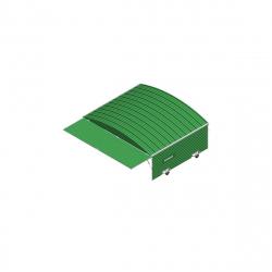 Ангар защитный для 3х тележек для барьеров